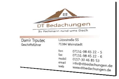 DTBedachungen - Visitenkarte