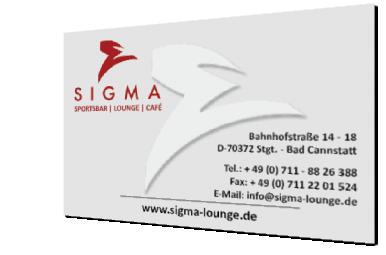 SigmaLounge - Visitenkarte